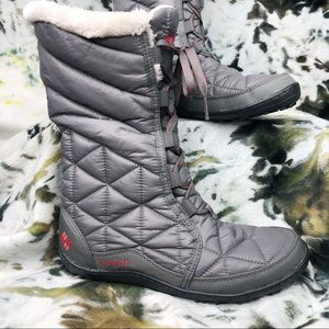 Columbia Puffer & Sherpa Lace Up Booties